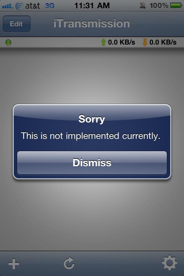iTransmission - Download Torrents on iOS [Jailbreak App