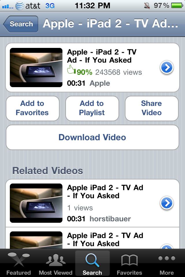 Yourtube 2 download videos from the youtube app jailbreak tweak yourtube 2 doesnt actually come with an application instead it integrates itself perfectly into the stock youtube application as seen above ccuart Image collections