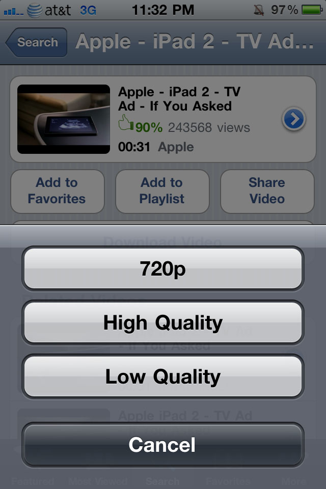 Yourtube 2 download videos from the youtube app jailbreak tweak img0488 ccuart Image collections