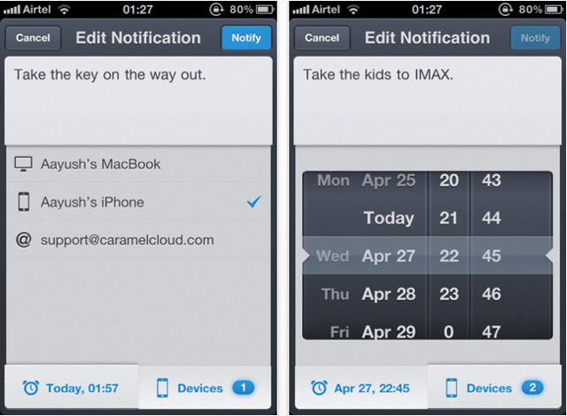 Notificant for iPhone