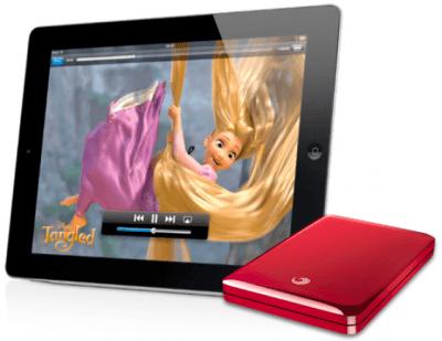 Seagate GoFlex Satellite with iPad