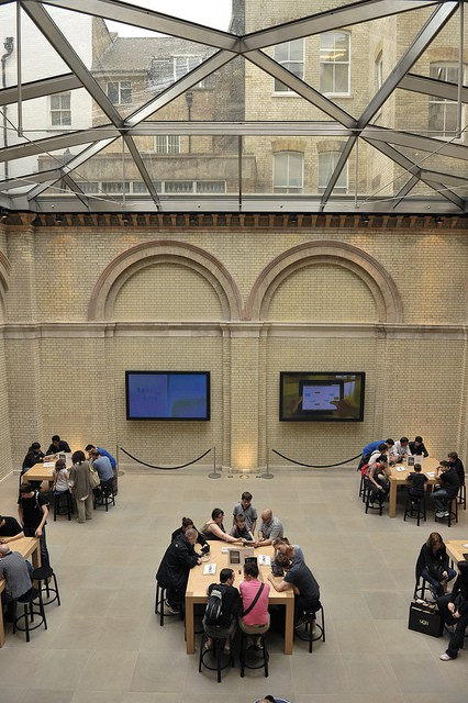 Due to its location in a historic building and its need to be restored from the ground up, the Covent Garden Apple Store in London was the world's most expensive Apple Store to build, costing more than $35 million.