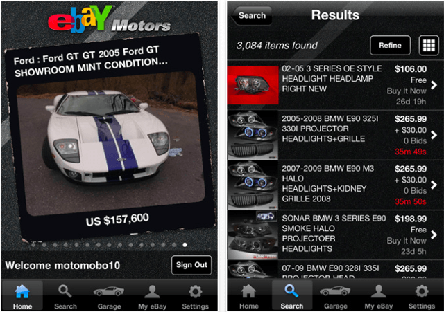 eBay Motors for iPhone