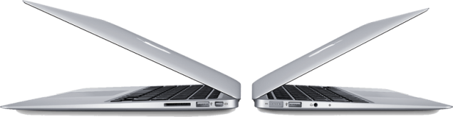 MacBook Airs Side-by-Side