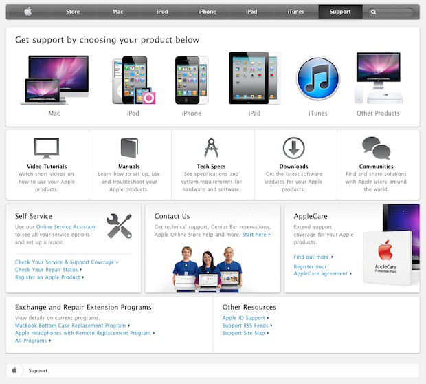 AppleSupportPage