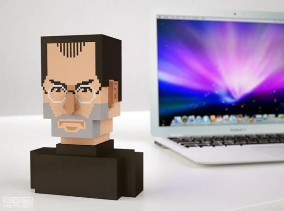 Design Fetish Pixel Steve Jobs Bust
