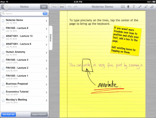 Noterize-for-iPad