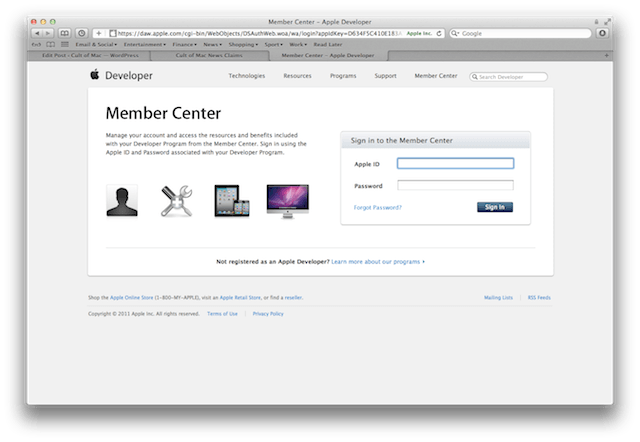 Apple-Dev-Center-website