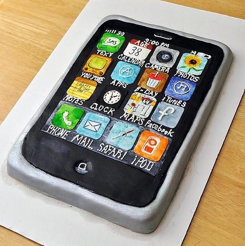 Fabulous Happy Birthday Iphone Heres Four Years Of Iphone Birthday Cakes Funny Birthday Cards Online Aeocydamsfinfo