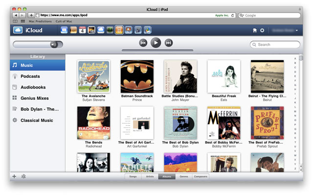 Concept mockup of new iCloud service