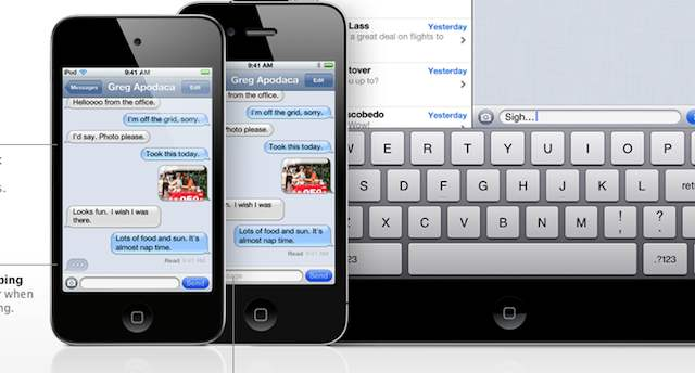 iMessage iPhone iPod iPad