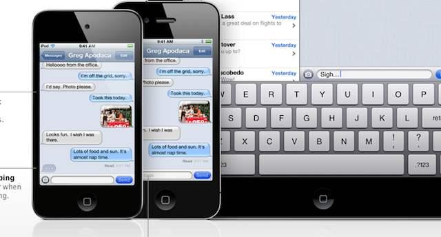 iMessage iPhone iPod iPad