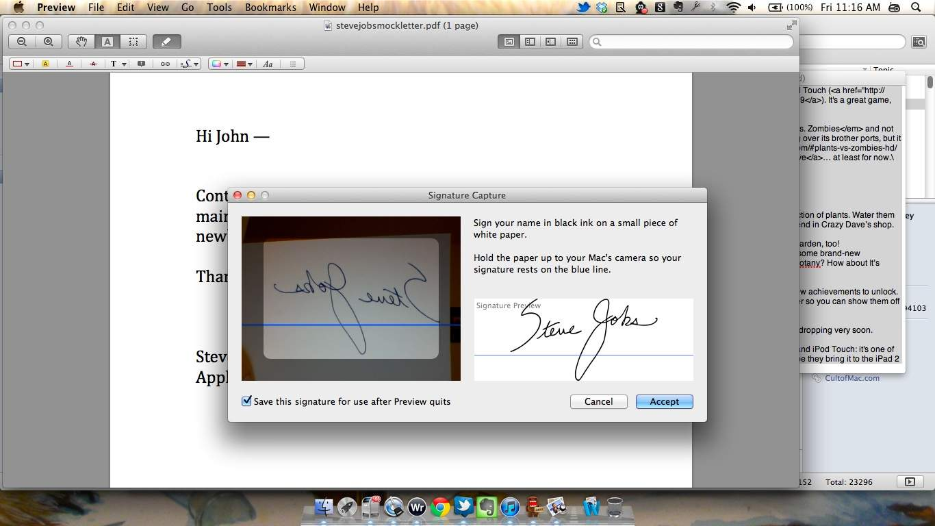 You can now sign pdfs using lions preview app screenshots how you can now sign pdfs using lions preview app screenshots how to cult of mac ccuart Images