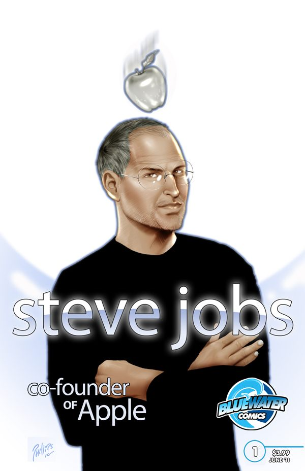 The cover for Steve Jobs: Co-Founder of Apple, due in comic book shops in August.