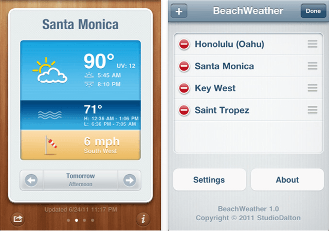 how to get the weather app on iphone 3