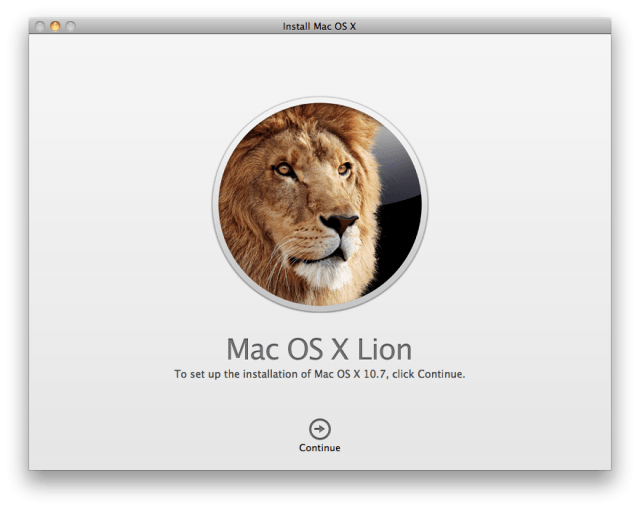 Mac OS X Lion Install