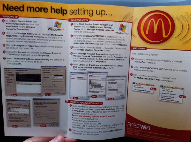 McDonalds Wi-Fi Guide. Windows VS Mac ..