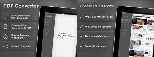 Readdle PDF converter iPad