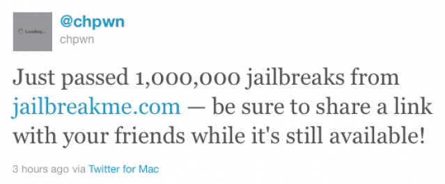 JailbreakMe-1-million-downloads-tweet