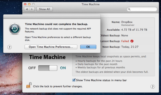 Upgrading to Lion will for now mean that you can't back up to third-party NAS servers with Time Machine