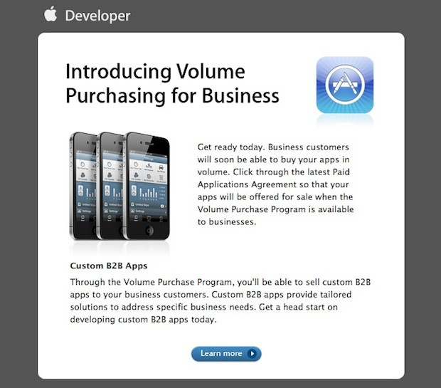 Apple Introduces Volume B2b Purchasing To Developers Cult Of Mac