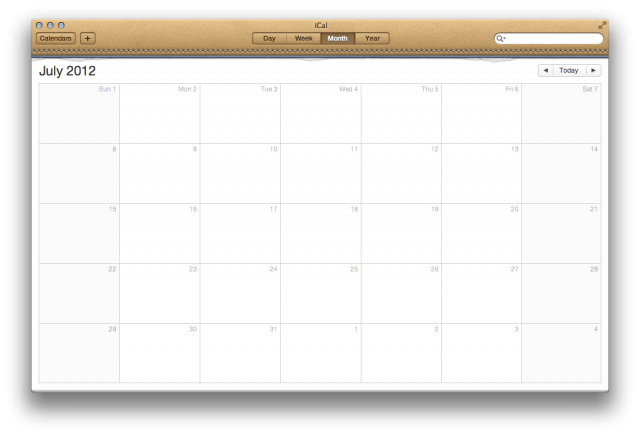 iCal in Lion leather