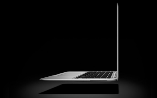 mysterious super thin macbook