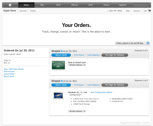 Apple S Order Status Page Gets A Facelift Cult Of Mac