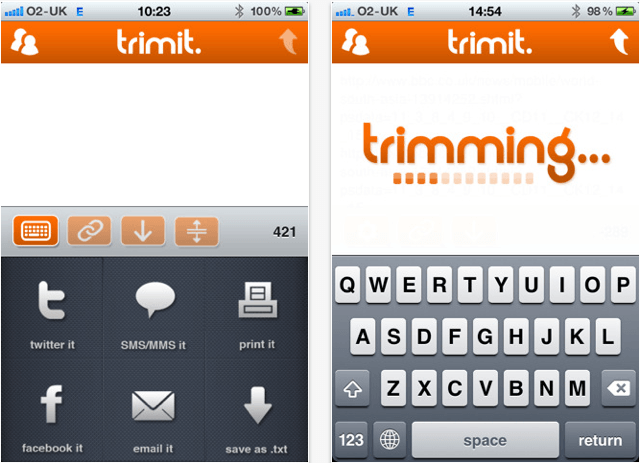 Trimit for iphone