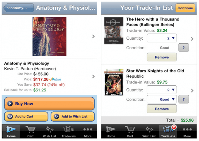 college students can easily compare textbook prices with amazons new app