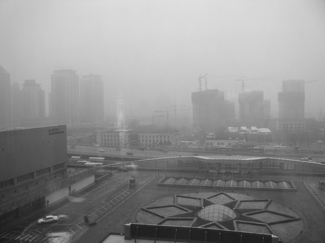 Smog over Beijing (Photo by kevindooley - http://flic.kr/p/A8nn7)