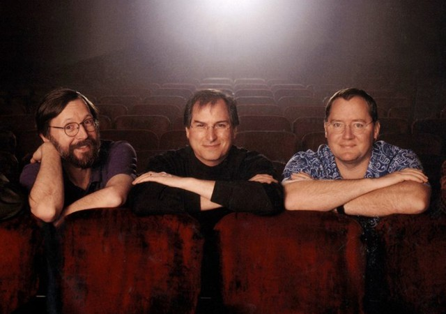 Steve Jobs with the Pixar founders.