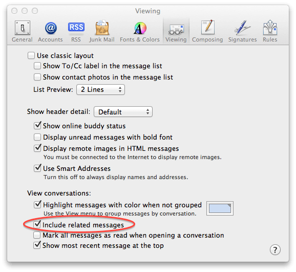 Tweak Your Mail Preferences And See The Whole Conversation