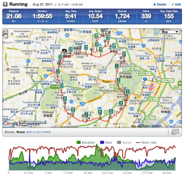 Runtracker screenshot