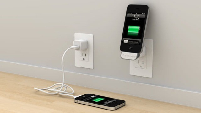 bluelounge 39 s minidock turns any electric socket into an. Black Bedroom Furniture Sets. Home Design Ideas