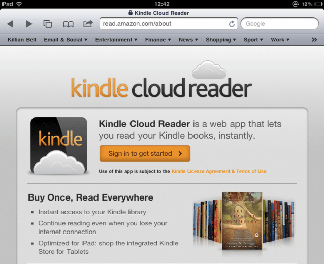 Amazon Laughs in Apple's Face With Web-Based Kindle Reader