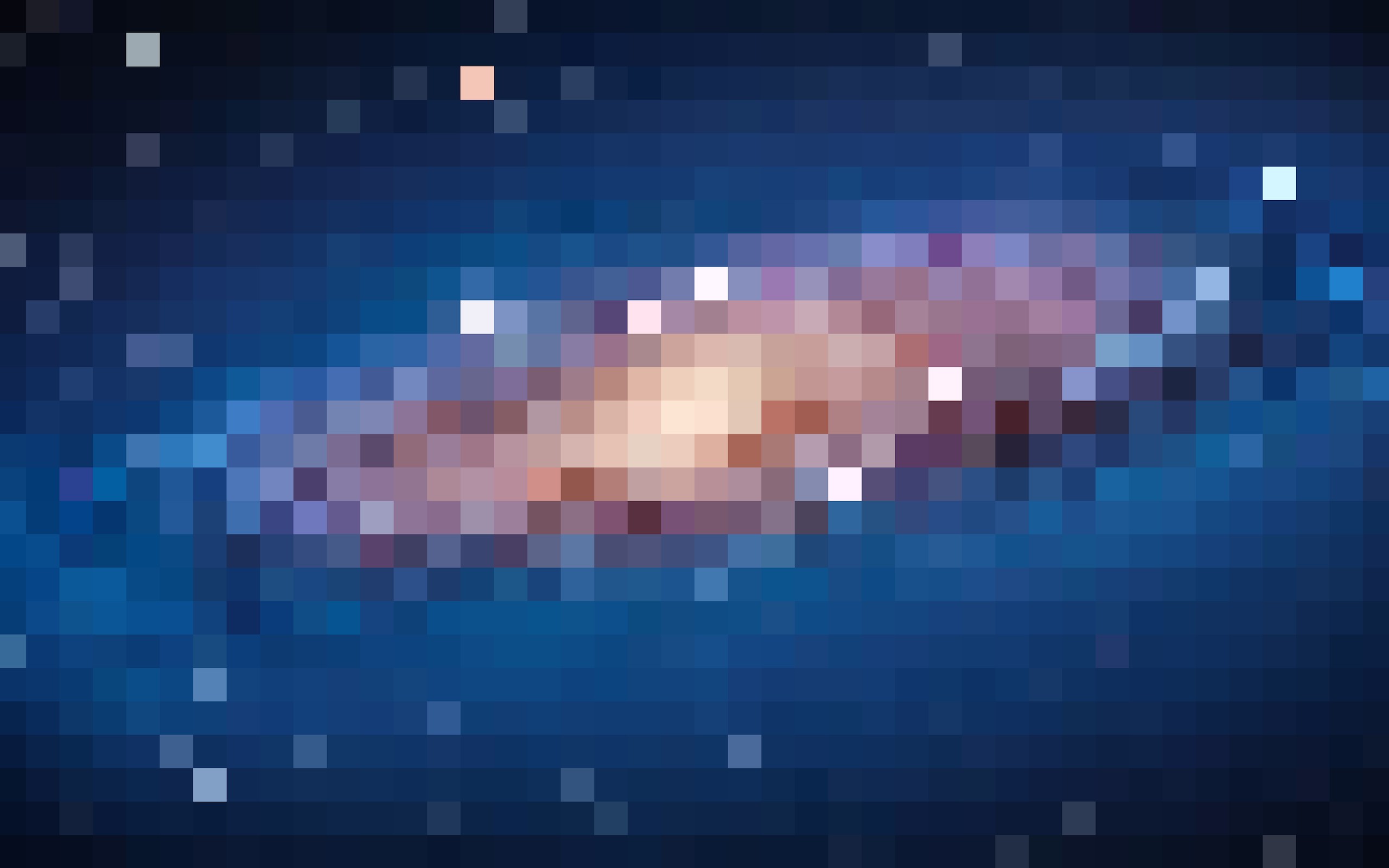 recreate the andromeda galaxy in 8-bit pixel art on your lion