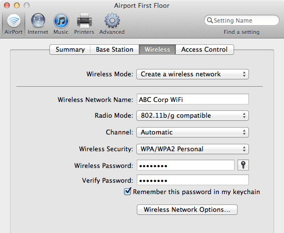 Create WiFi Network