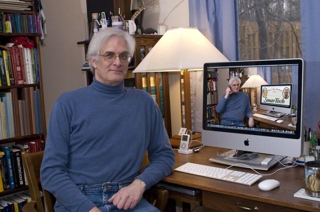 George Woodrow III and his iMac