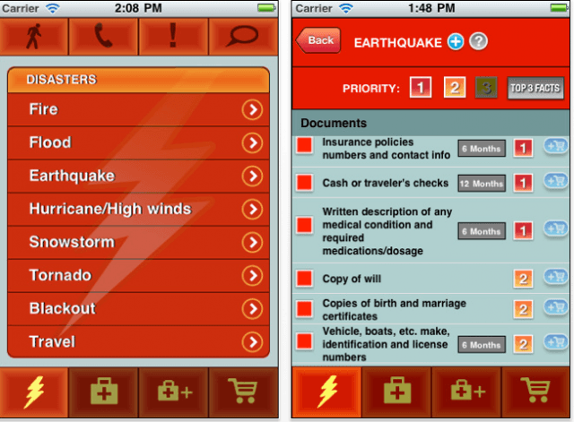 The StopDisaster! app