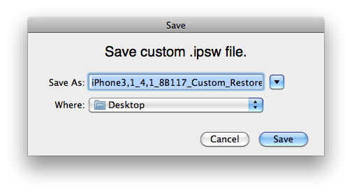 Latest Version Of Redsn0w Gets Rid Of Obnoxious IPSW