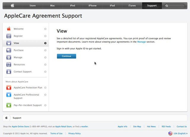 Applecare Online Agreement Support Down For Maintenance Cult Of Mac