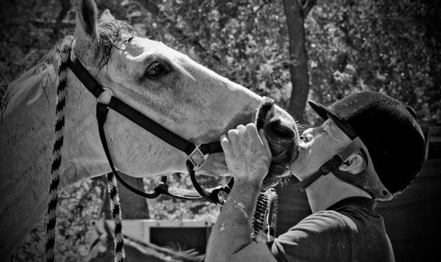 Skip Haughay and his horse, Regal Bull