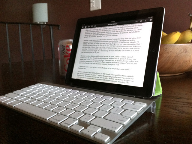 switching from a laptop to an ipad can actually help your writing