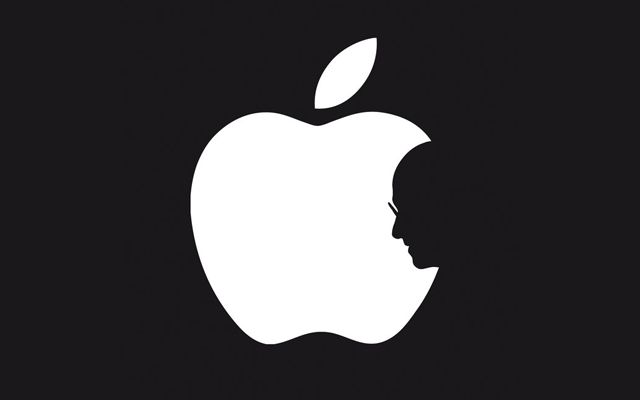 Apple Logo with Steve Jobs Profile