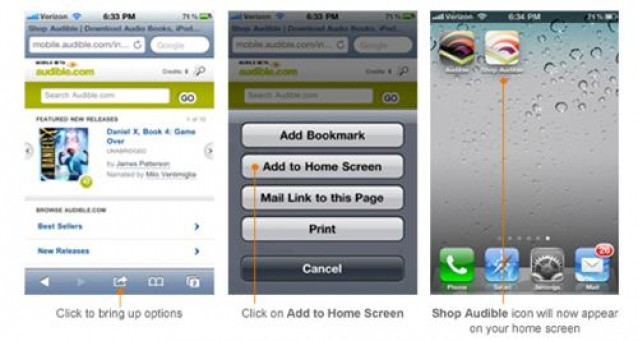 how to add audible to iphone