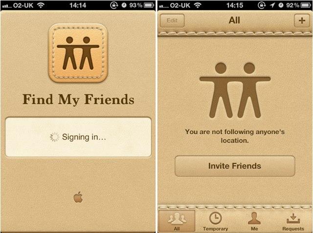 Apple find friends app