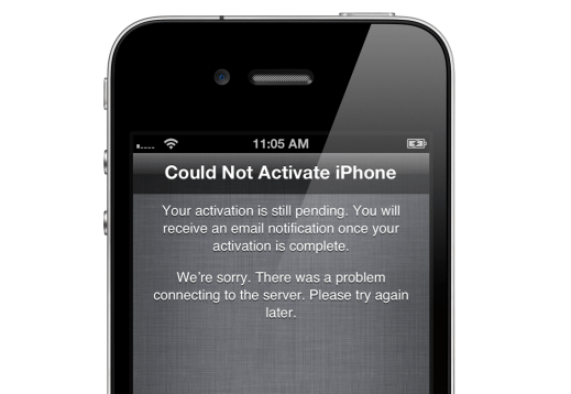 activation problem iphone