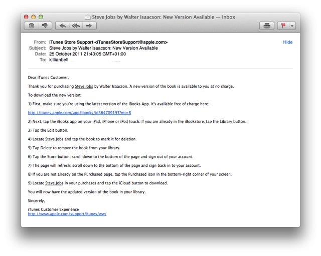 Formatting Issues With Steve Jobs Biography in iBooks? Re-Download