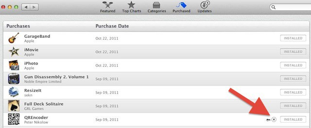 How to delete app store purchases